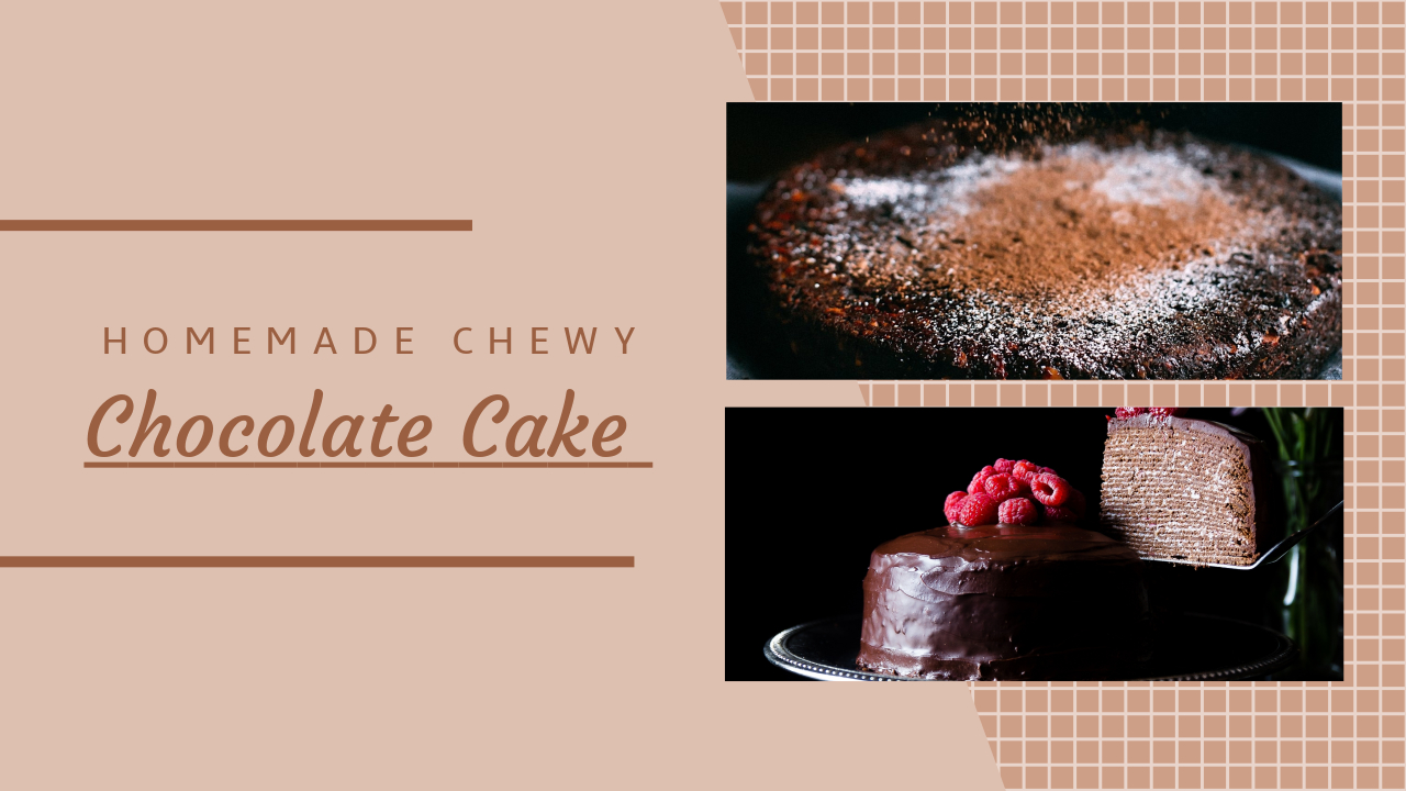 chocolate cake cooking youtube thumbnail