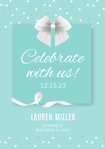 light green celebration party invitation
