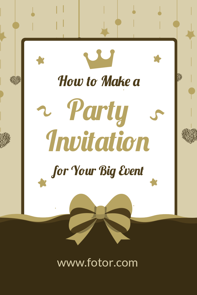 how to make a party invitation for your big event