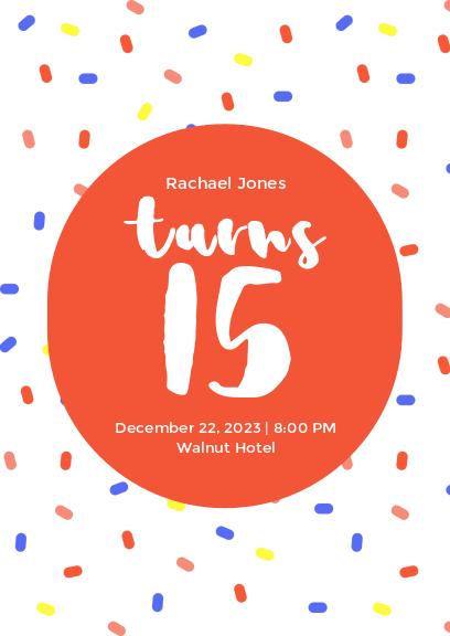 white cute birthday party invitation