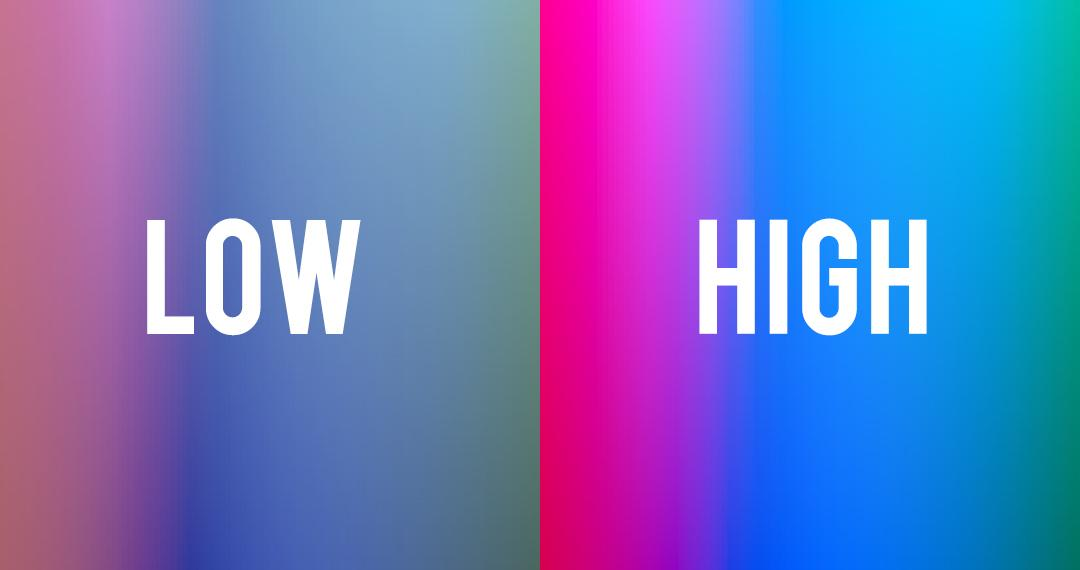 low and high hues