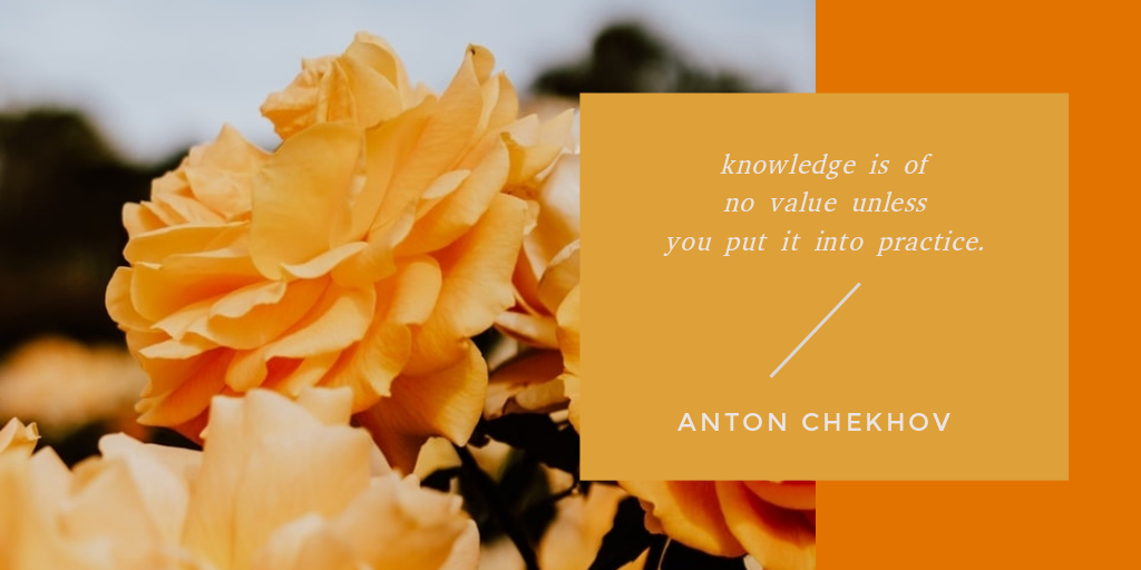 orange flower quote post