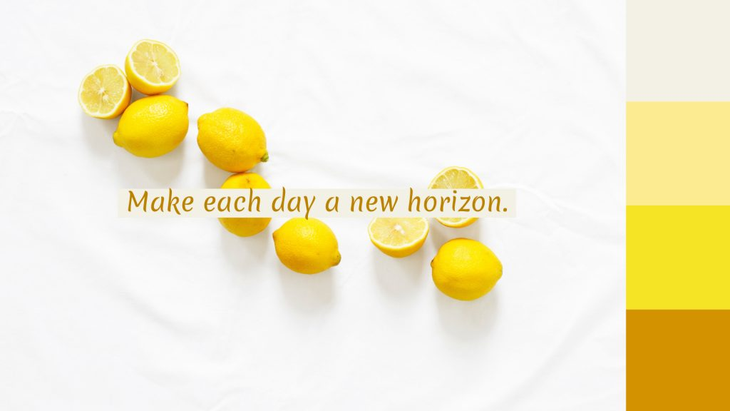yellow lemon quote wallpaper