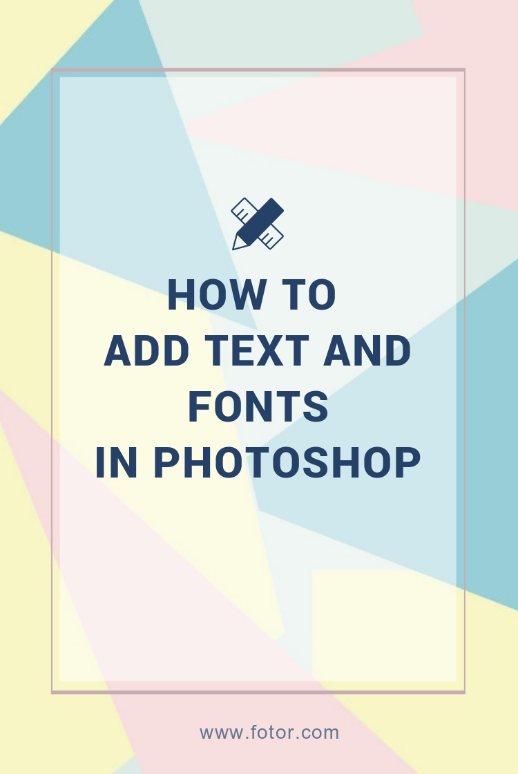 how to add text and fonts in photoshop