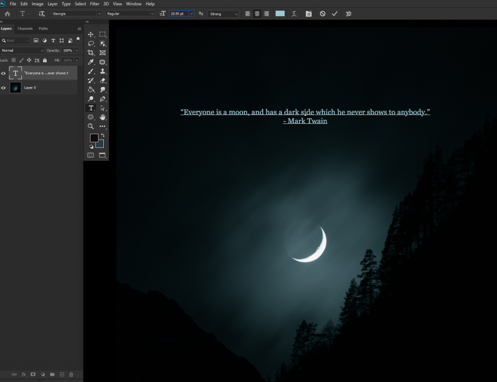 change font size in photoshop