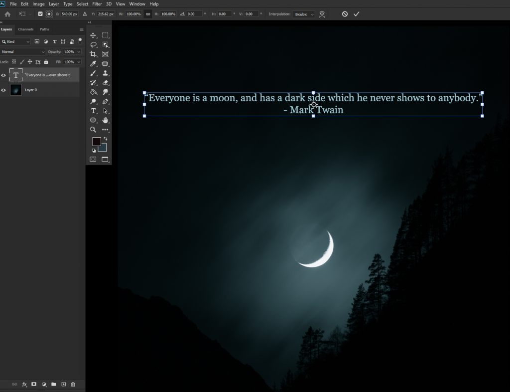 how to change font size in photoshop2