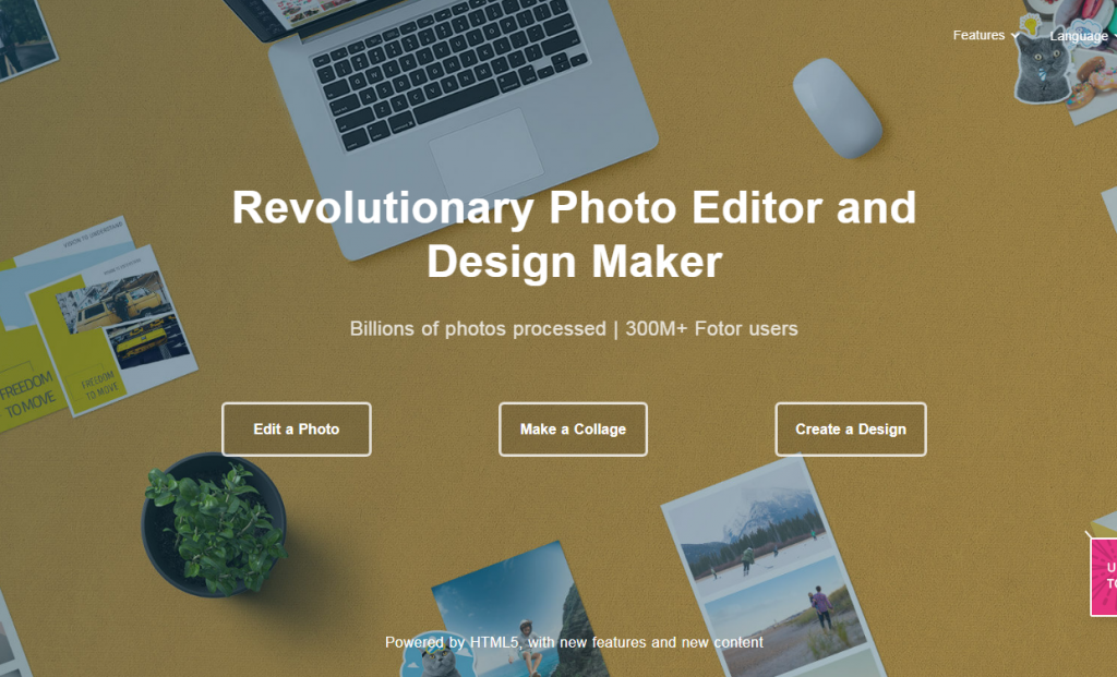 fotor graphic design and photo editing tools