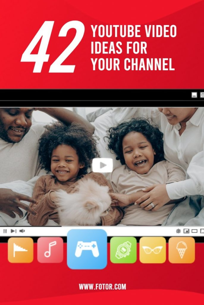 42 youtube video ideas for your channel