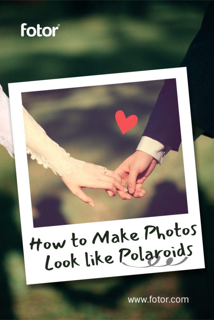how to make photo look like polaroids