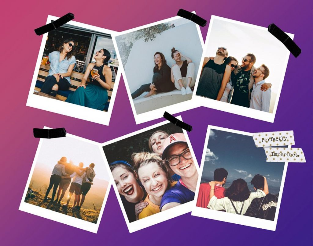 friends polaroid collage