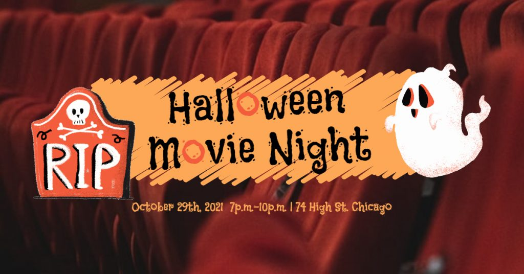 Fotor Halloween Movie Night Party Facebook Event Cover Template