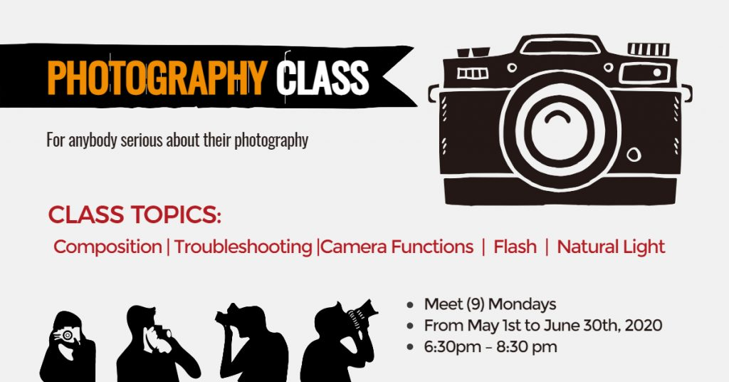 Fotor Photography Class Facebook Event Cover Template