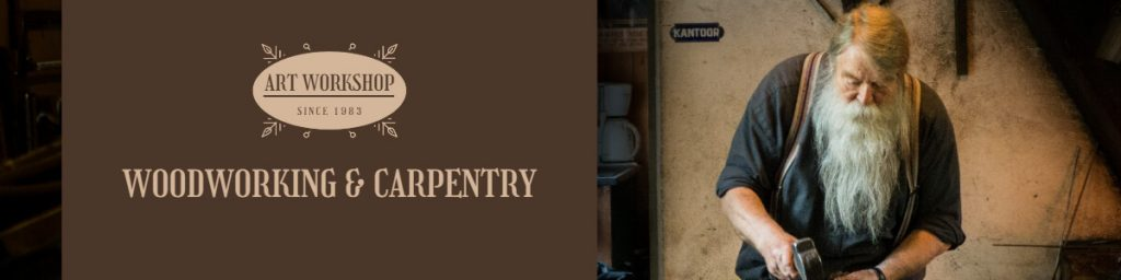 Fotor Woodworking & Carpentry Etsy Banner Template