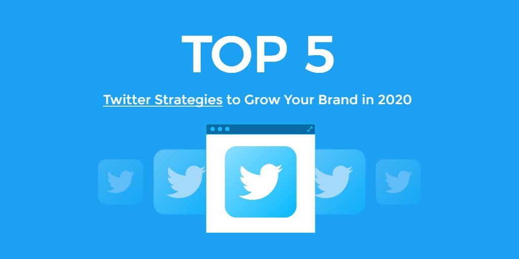 Fotor blue social media strategies twitter header template