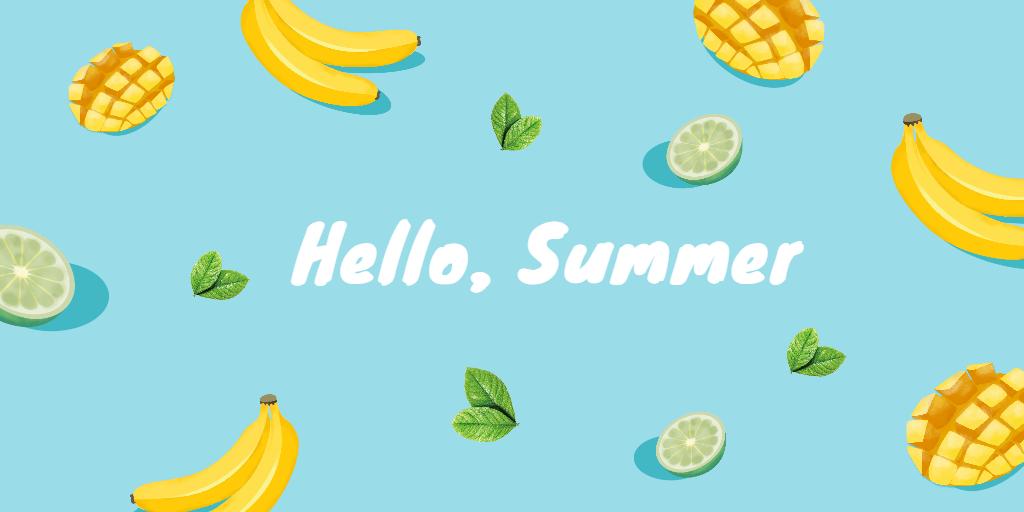 Fotor summer twitter header template
