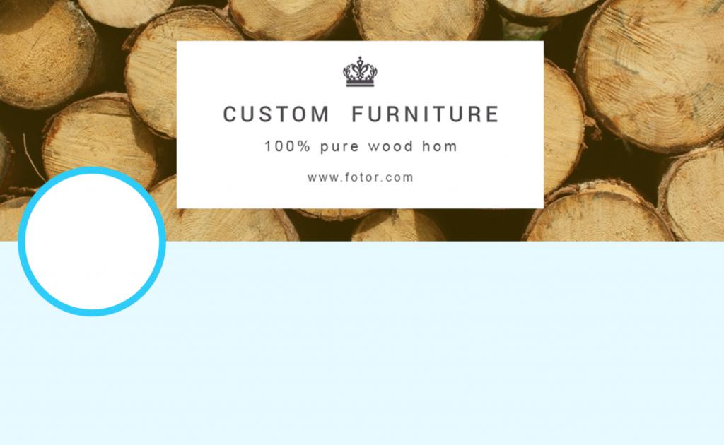 Fotor twitter header template for furniture business