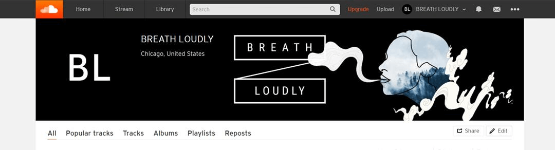 Apply your SoundCloud banner