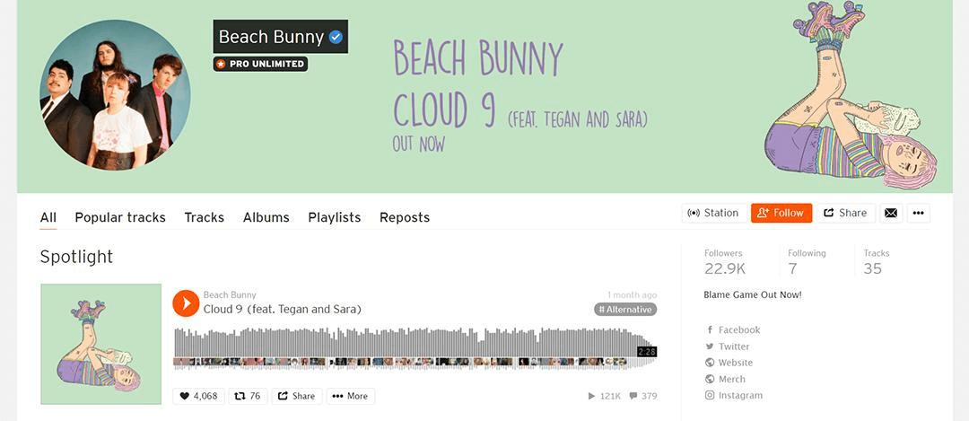 Beach Bunny soundcloud