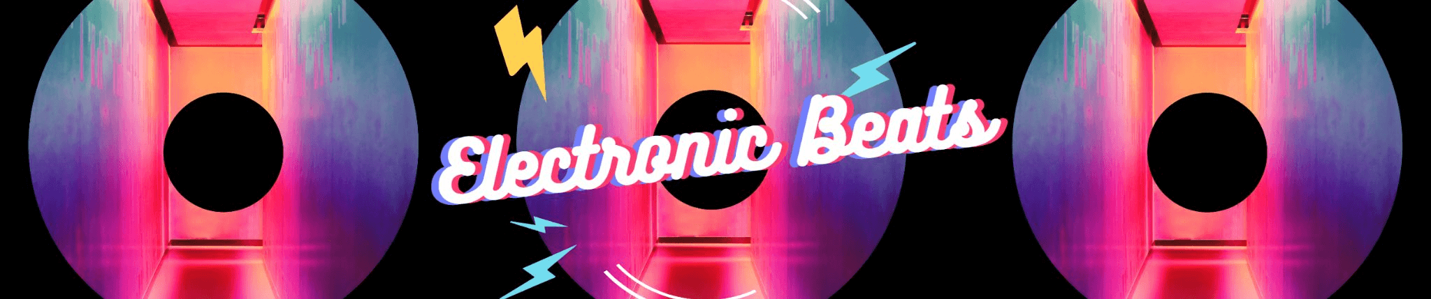 Fotor electronic beats SoundCloud banner template