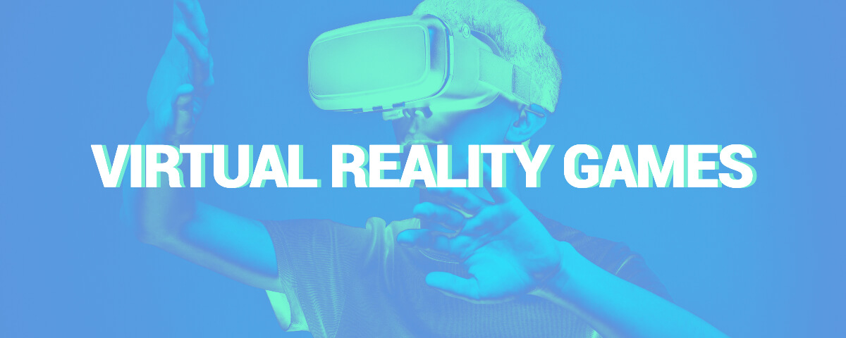 Fotor blue virtual reality advertisement twitch banner template