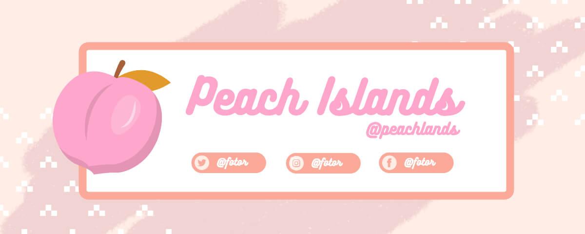 Fotor light pink peach island twitch banner template