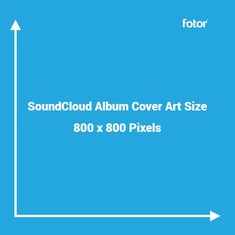SoundCloud album cover art size