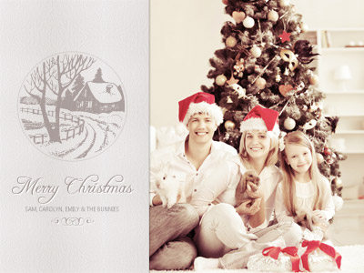 Old-Fashioned Christmas Card