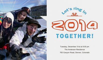 Convite de Ano Novo entre Amigos
