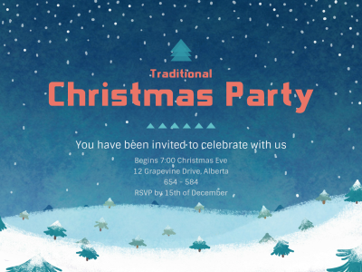 Christmas party invitation fotor photo cards free online photo christmas party invitation stopboris Image collections