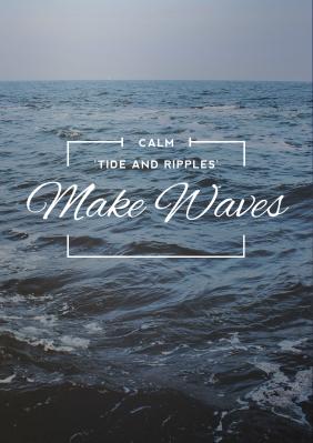 ocean poster maker design poster online for free fotor photo