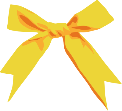 Yellow Ribbon Bow - Fr...