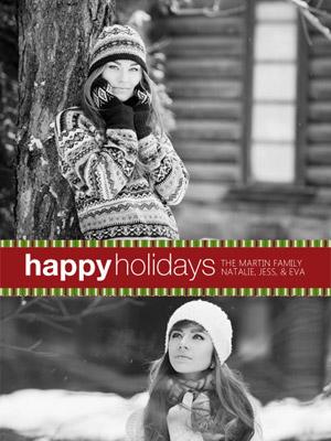 Natal com Fotos e Faixas Natalinas