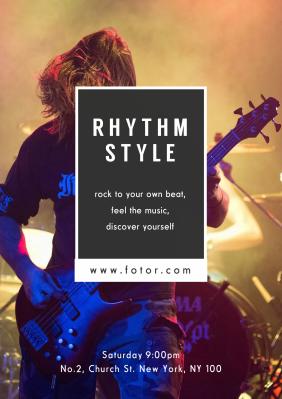 Concert - Poster Maker – Design Poster Online for free | Fotor ...
