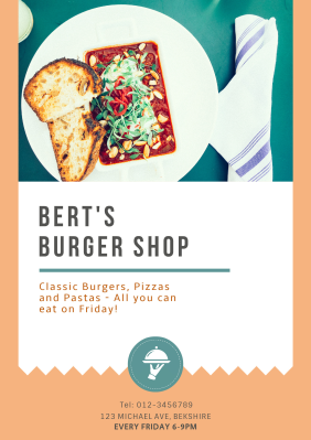 Burger Shop - Poster Maker – Design Poster Online for free | Fotor ...