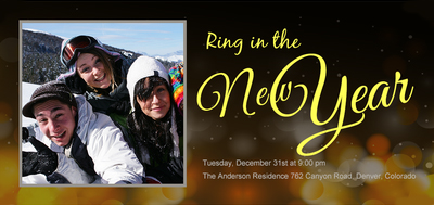 Ring in the New Year Invite