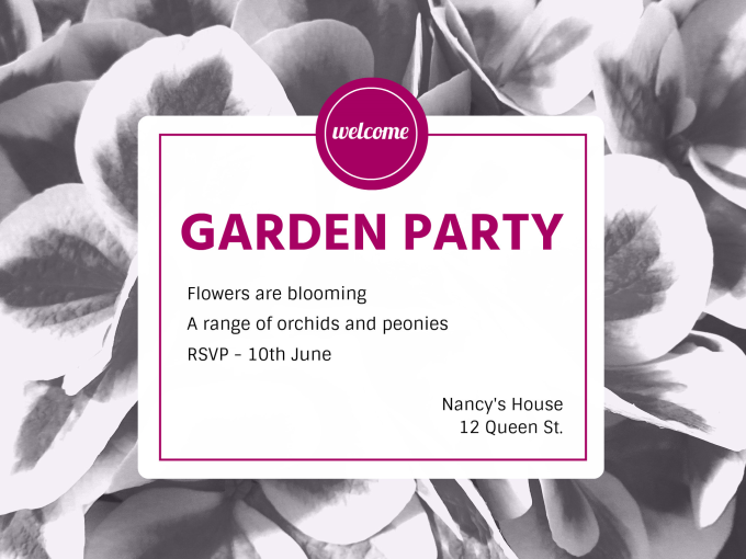 Garden party fotor photo cards free online photo card for Garden maker online