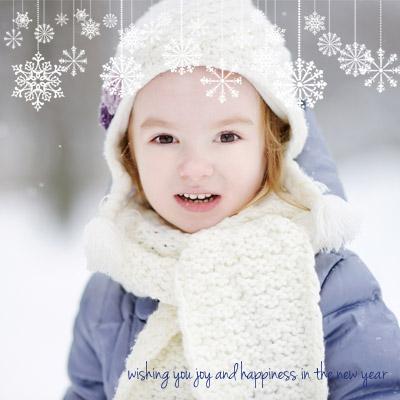 Foto Inteira com Overlays de Neve