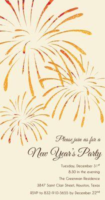 Convite para Festa de Ano Novo