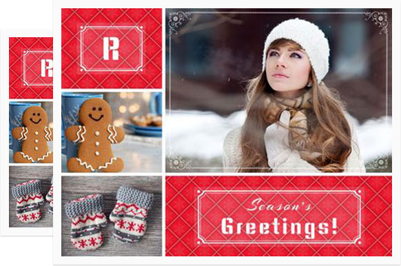 Photo Collage Christmas Cards Online Merry Christmas And Happy New - Card template free: photo insert christmas cards