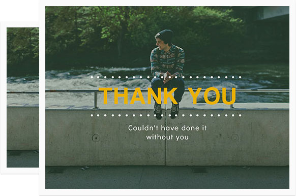 Thank You Cards - Design Thank You Photo Cards Online for Free ...