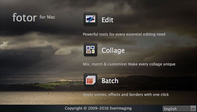 Fotor photo editor for Mac