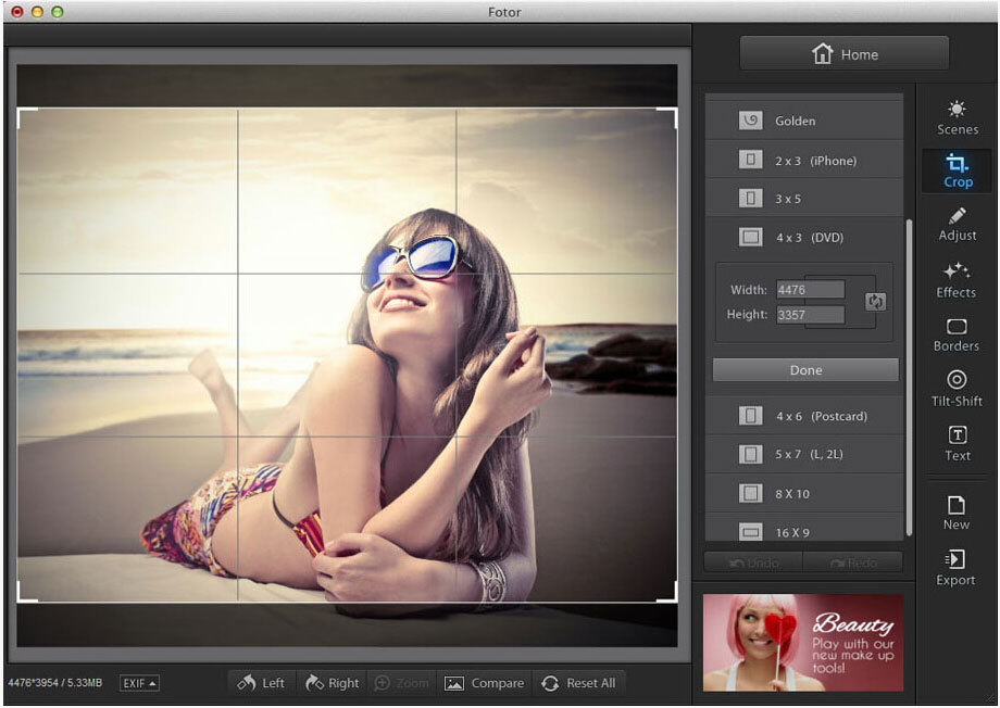 photo editing using Fotor image editor for Mac