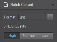 convert photo to jpg png bmp tiff using Fotor batch convert